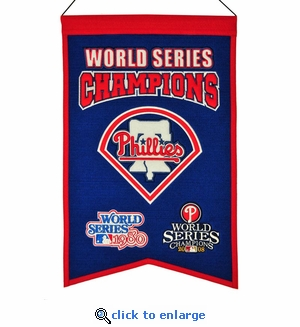 Philadelphia Phillies World Series Champions Wool Banner (14 x 22)