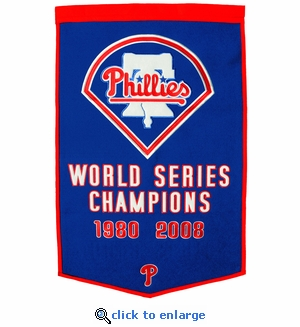 Philadelphia Phillies World Series Dynasty Wool Banner (24 x 36)