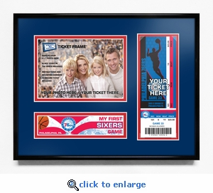 Philadelphia Sixers My First Game 5x7 Photo Ticket Frame
