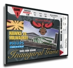 Phillips Arena Inaugural Game Canvas Mega Ticket - Atlanta Hawks