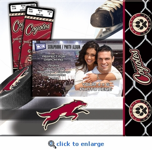 Arizona Coyotes 8x8 Scrapbook - Ticket & Photo Album