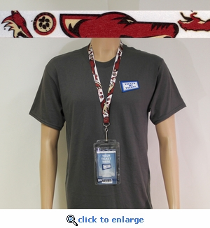 Phoenix Coyotes Reversible Lanyard Key Chain with Ticket Holder