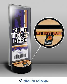 Phoenix Suns My First Game Ticket Display Stand