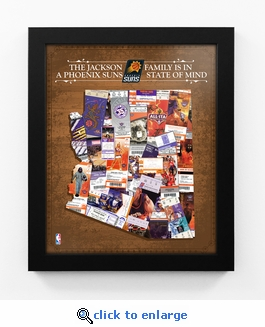 Phoenix Suns Personalized State of Mind Framed Print - Arizona