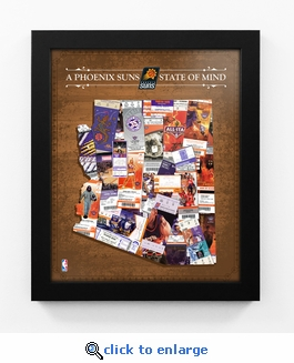 Phoenix Suns State of Mind Framed Print - Arizona