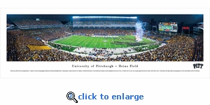 Pittsburgh Panthers Football - Night - Panoramic Photo (13.5 x 40)