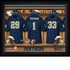 Pittsburgh Panthers Personalized Football Locker Room Print