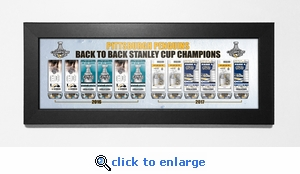 Pittsburgh Penguins Back to Back Stanley Cup Champions Tickets to History Framed Print
