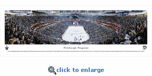Pittsburgh Penguins - End Zone - Panoramic Photo (13.5 x 40)