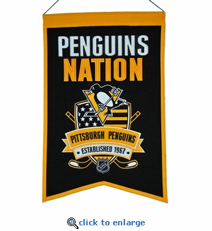 Pittsburgh Penguins Nations Wool Banner (14 x 22)