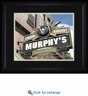 Pittsburgh Penguins Personalized Sports Room / Pub Print