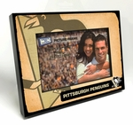 Pittsburgh Penguins Vintage Style Black Wood Edge 4x6 inch Picture Frame