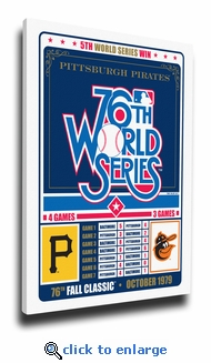 Pittsburgh Pirates 1979 World Series Champions Canvas Print