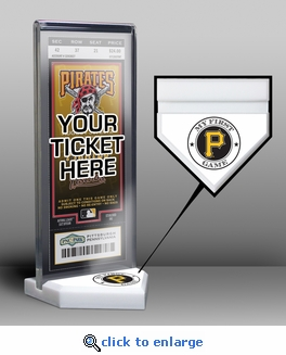 Pittsburgh Pirates My First Game Ticket Display Stand