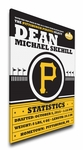 Pittsburgh Pirates Personalized Canvas Birth Announcement - Baby Gift