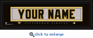 Pittsburgh Pirates Personalized Stitched Jersey Nameplate Framed Print