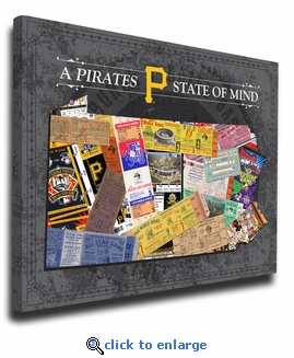Pittsburgh Pirates State of Mind Canvas Print - Pennsylvania