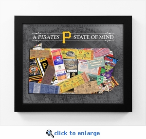 Pittsburgh Pirates State of Mind Framed Print - Pennsylvania