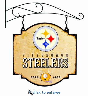 Pittsburgh Steelers 16 X 16 Metal Tavern / Pub Sign