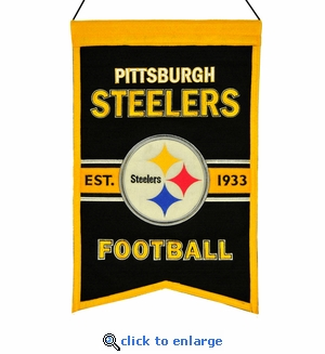 Pittsburgh Steelers Franchise Wool Banner (14 x 22)
