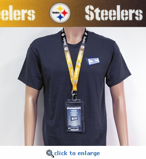 Pittsburgh Steelers Lanyard Key Chain Bottle Opener and Ticket Holder
