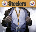 Pittsburgh Steelers NFL Lanyard Key Chain and Ticket Holder - Gold