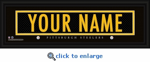 Pittsburgh Steelers Personalized Stitched Jersey Nameplate Framed Print