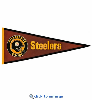 Pittsburgh Steelers Pigskin Pennant (13 x 32)