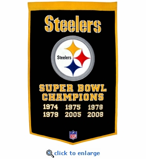 Pittsburgh Steelers Super Bowl Dynasty Wool Banner (24 x 36)
