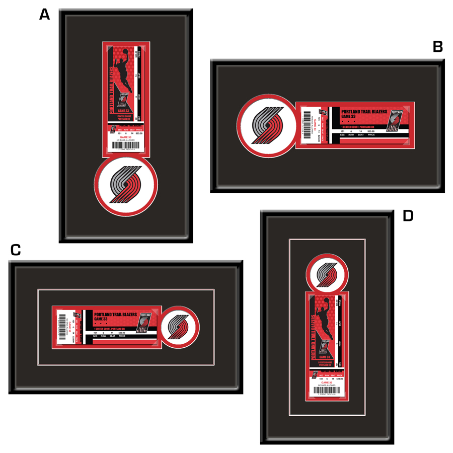 best prices meet official shop Portland Trail Blazers Single Ticket Frame