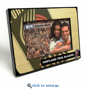 Portland Trail Blazers Black Wood Edge 4x6 inch Picture Frame