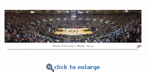 Purdue Boilermakers Basketball - Black Out - Panoramic Photo (13.5 x 40)