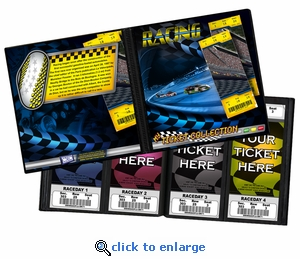 Auto Racing Ticket Album - A Photo Album Designed to Hold Ticket Stubs
