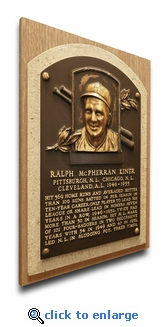 Ralph Kiner Baseball Hall of Fame Plaque on Canvas - Pittsburgh Pirates
