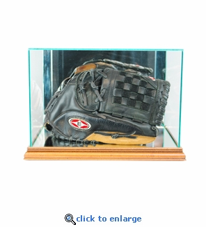 Rectangle Baseball Glove Display Case - Walnut