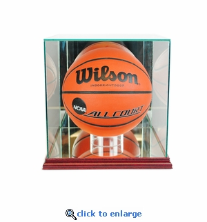Rectangle Basketball Display Case - Cherry
