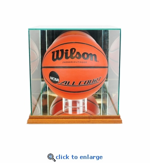 Rectangle Basketball Display Case - Walnut