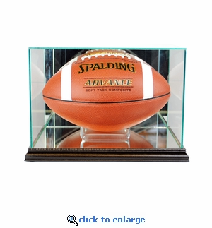 Rectangle Football Display Case - Black
