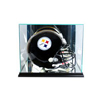Rectangle Football Helmet Display Case - Black