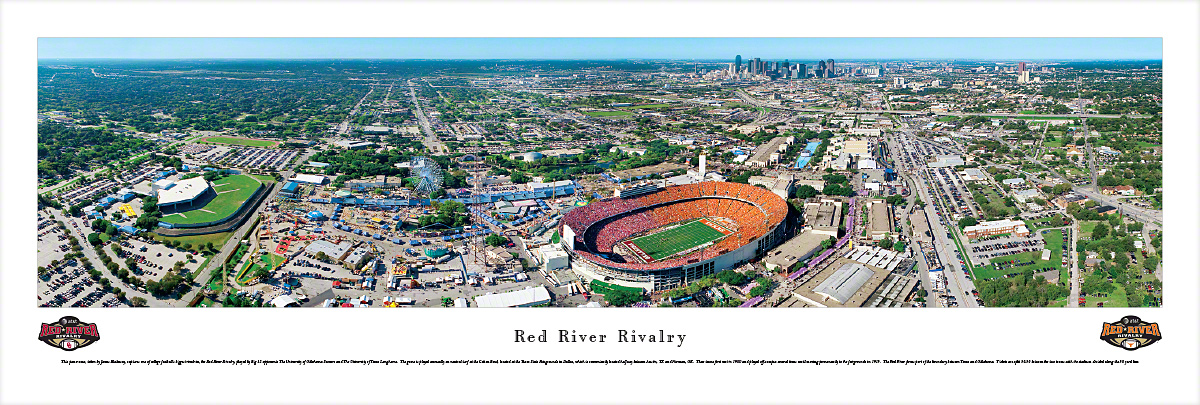 Red River Rivalry - Oklahoma Sooners vs Texas Longhorns - 50 Yard ...