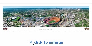 Red River Rivalry - Oklahoma Sooners vs Texas Longhorns - 50 Yard Line - Panoramic Photo (13.5 x 40)