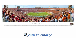 Red River Rivalry - Oklahoma Sooners vs Texas Longhorns - End Zone - Panoramic Photo (13.5 x 40)