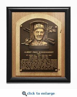 Red Schoendienst Baseball Hall of Fame Plaque Framed Print - St Louis Cardinals