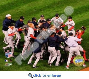 Red Sox 2007 World Series Celebration Game Four 8x10 Photo