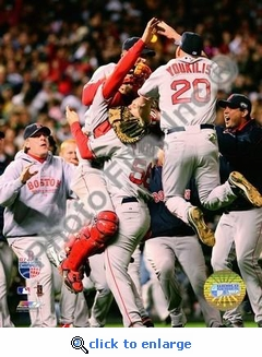 Red Sox Celebration II 2007 World Series Game 4 8x10 Photo