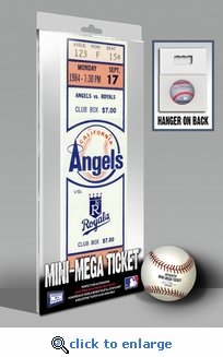 Reggie Jackson 500 Home Run Mini-Mega Ticket - Anaheim Angels