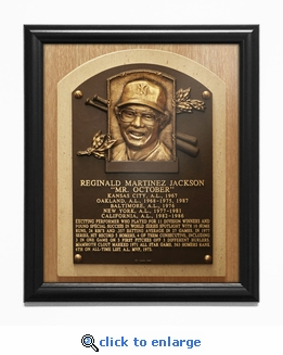 Reggie Jackson Baseball Hall of Fame Plaque Framed Print - New York Yankees