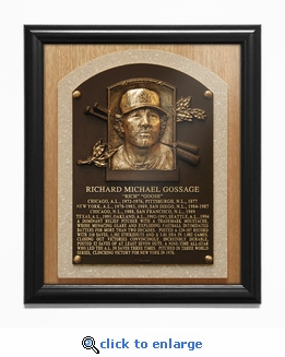 Rich Gossage Baseball Hall of Fame Plaque Framed Print - New York Yankees