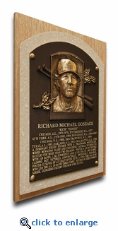 Rich Gossage Baseball Hall of Fame Plaque on Canvas - New York Yankees