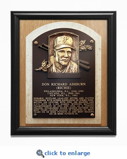 Richie Ashburn Baseball Hall of Fame Plaque Framed Print - Philadelphia Phillies